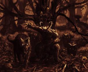 Wolf Master by treystimpsonart