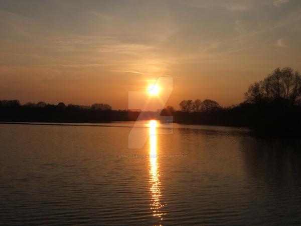 Easter Sunset over Reservoir