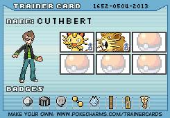 Makto Region's Pokemon League~GL#2-Cuthbert by ZeldaLover12