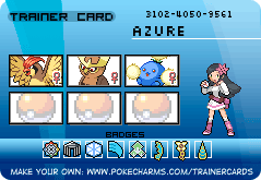 Makto Region's Pokemon League~GL#4-Azure by ZeldaLover12