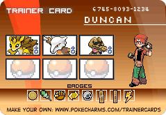 Makto Region's Pokemon League~GL#7-Duncan by ZeldaLover12