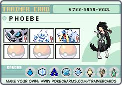 Makto Region's Pokemon League~GL#8-Phoebe by ZeldaLover12