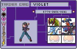 Makto Region's Pokemon League~E4#1-Violet by ZeldaLover12