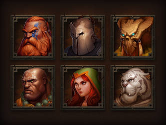 Character portraits for game