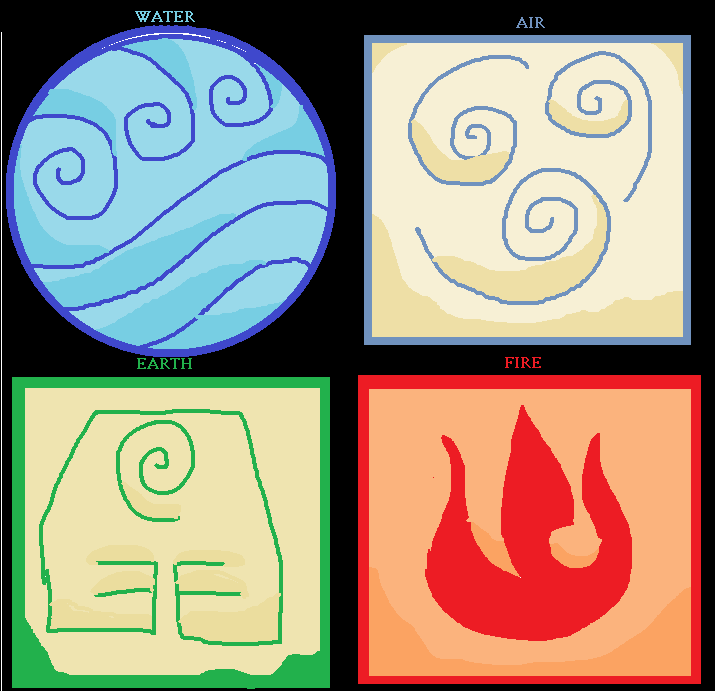 Avatar Bending Symbols By Mynameisgrey On Deviantart