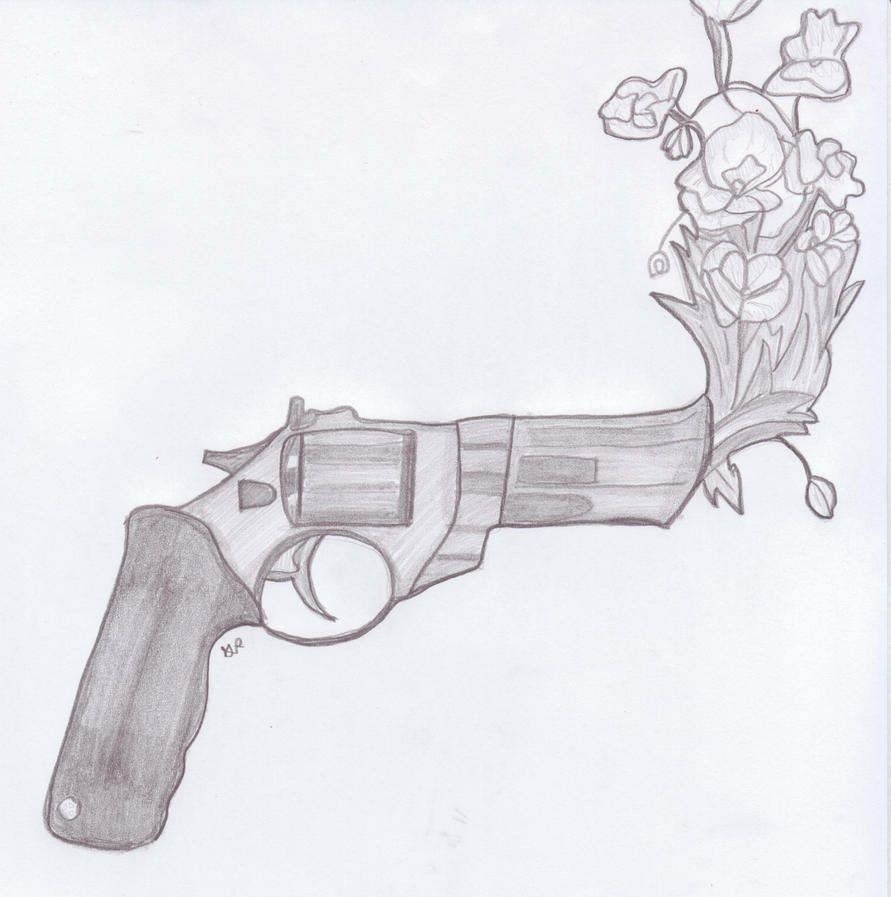 gun shooting flowers art wwwimgkidcom the image kid