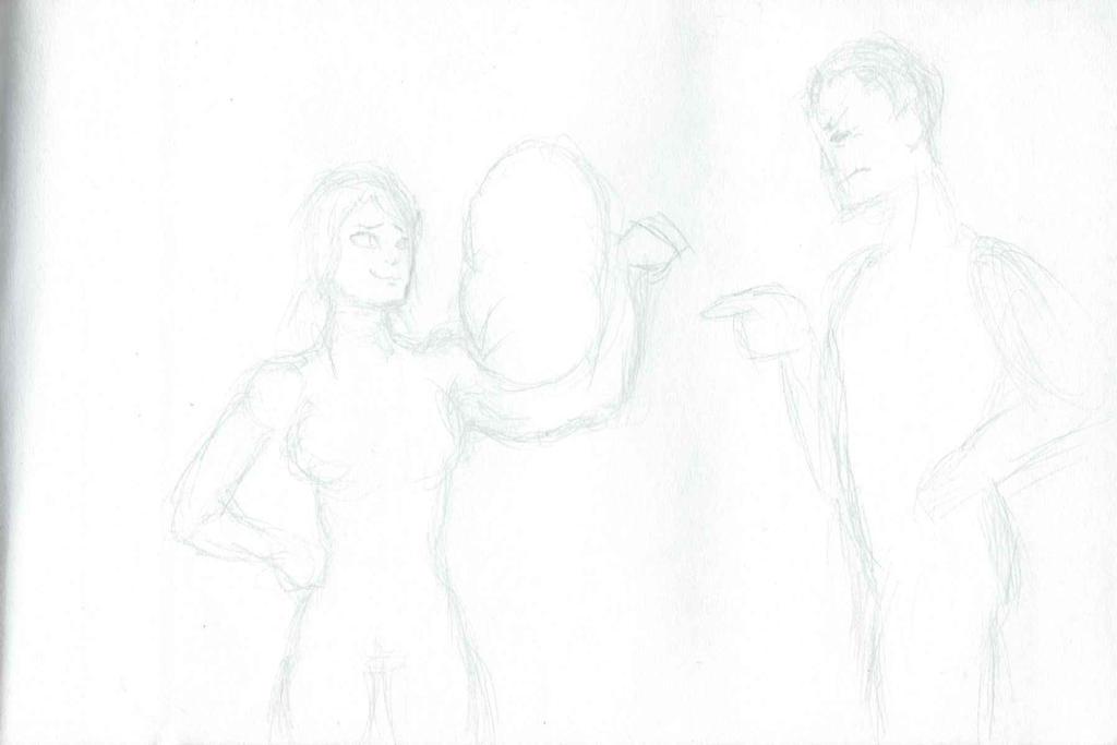 Harder than Kryptonian steel Pt.1 (Rough Sketch) by CMGjim