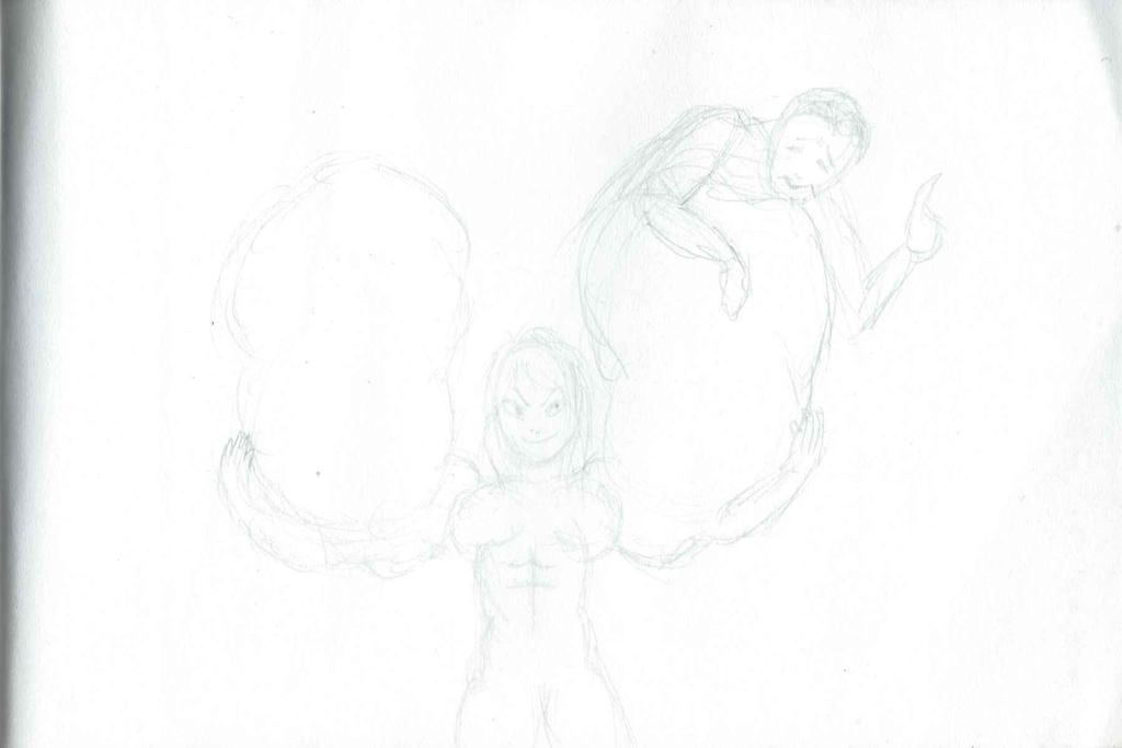 Harder than Kryptonian steel Pt. 2 (Rough Sketch) by CMGjim