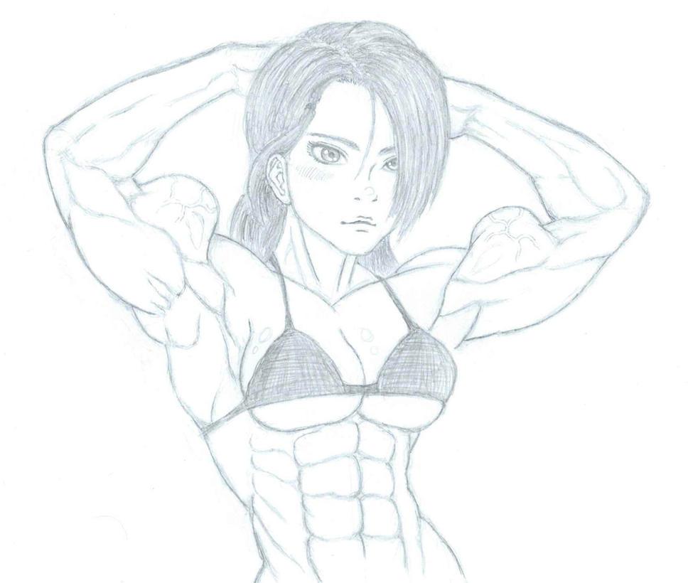 Art Trade: The-Muscle-Girl-Fan's Avia by CMGjim