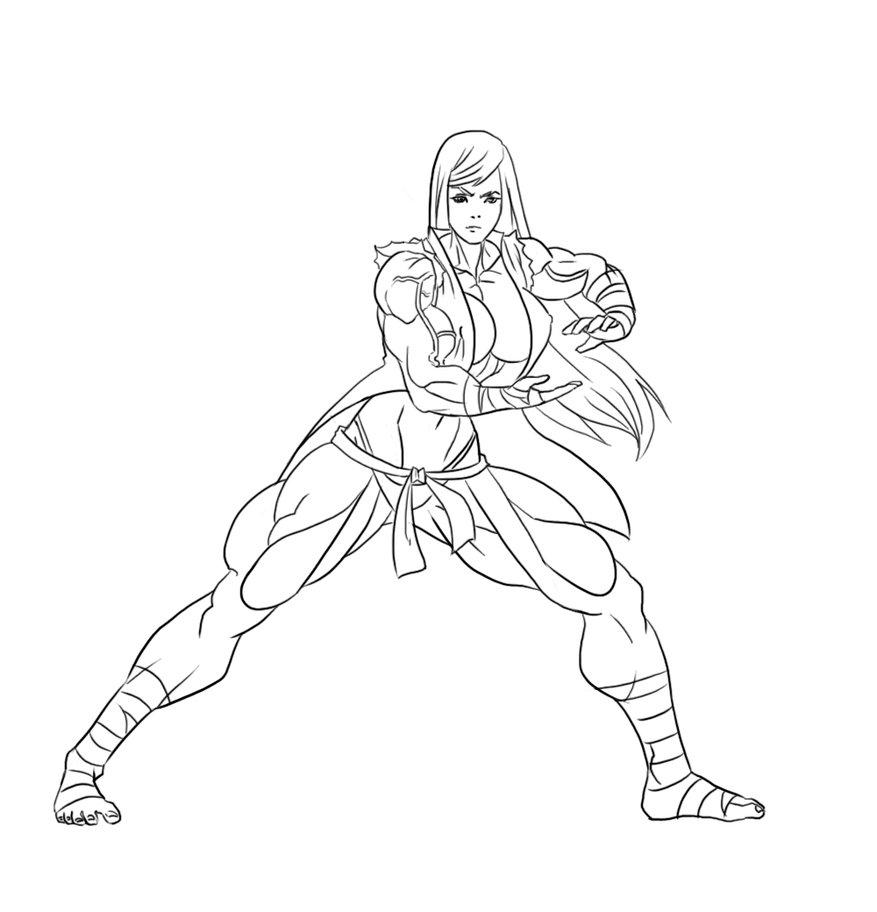 Art Trade: Karate Girl TMGF style by CMGjim
