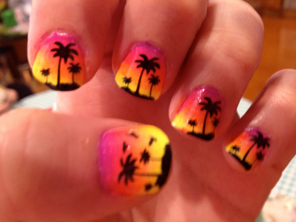 Another sunset nail art by TOBOK ... - Another Sunset Nail Art By TOBOK On DeviantArt