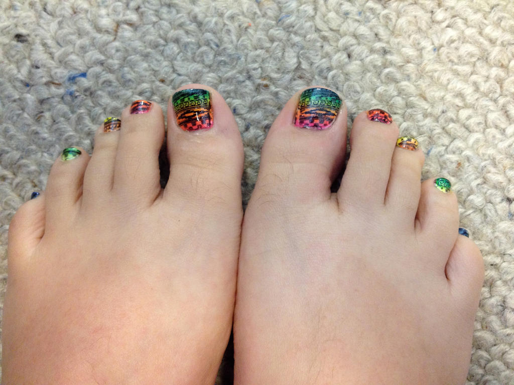 Mexican blanket toe nail art by tobok on deviantart mexican blanket toe nail art by tobok prinsesfo Image collections