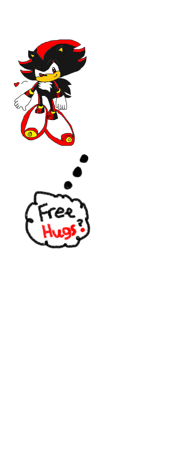 Free Hugs By Shadow the Hedgehog -Wip- by Celeste-the-Cat