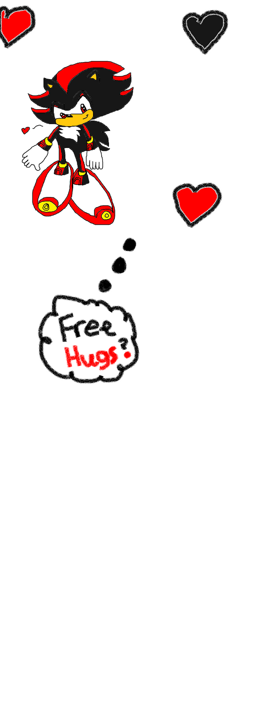 Free Hugs By Shadow the Hedgehog -Done- by Celeste-the-Cat