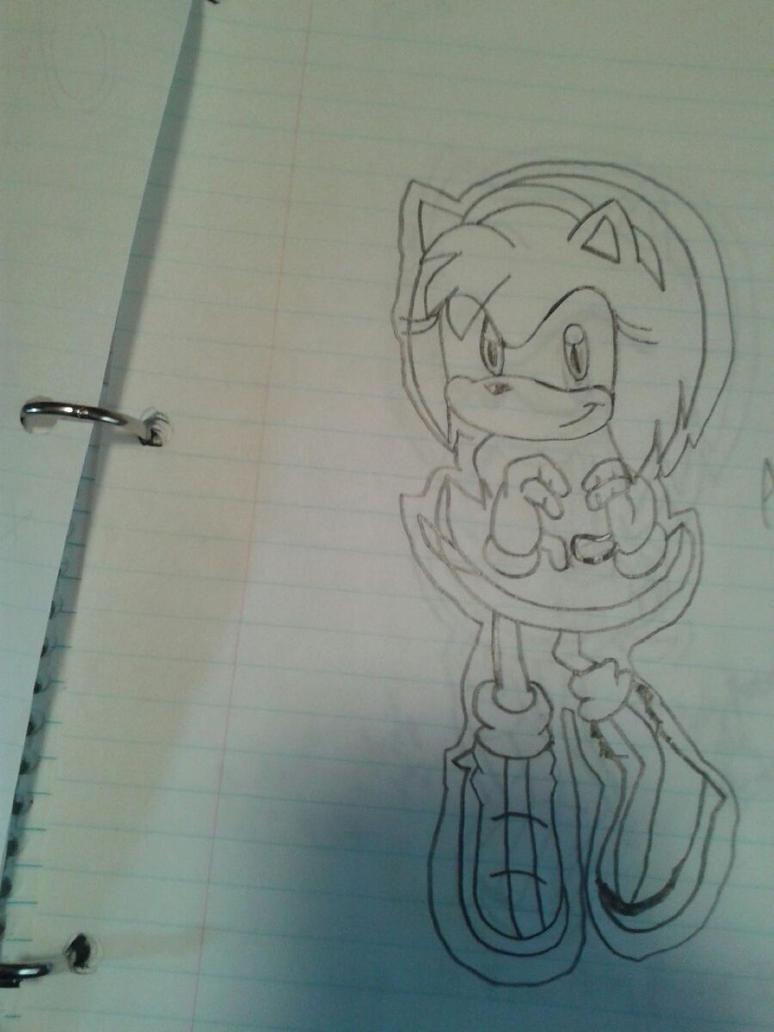 Amy Rose the Hedgehog Heart Pose by SoniatheHedgehog365