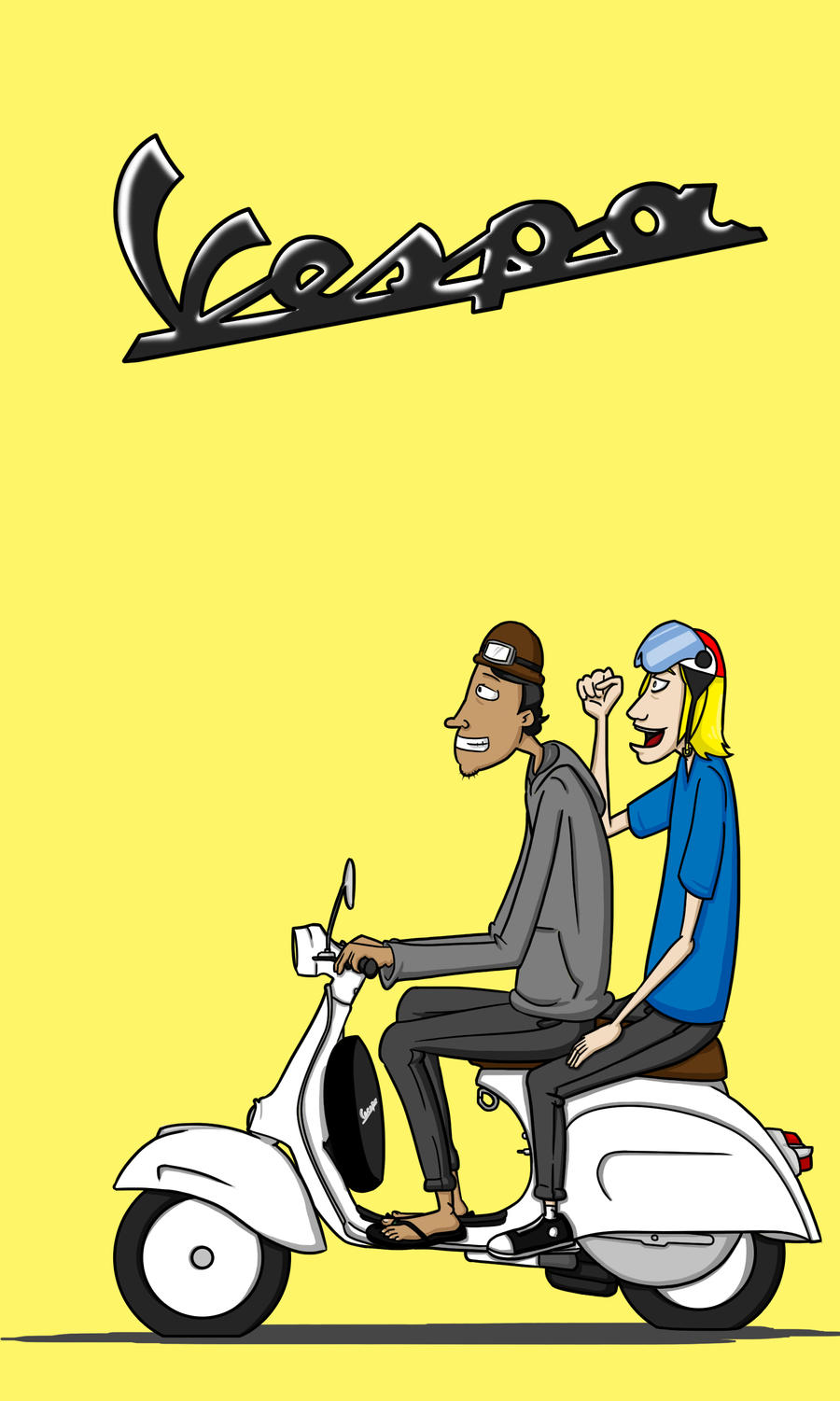 Vespa Cartoon Images & Pictures - Becuo