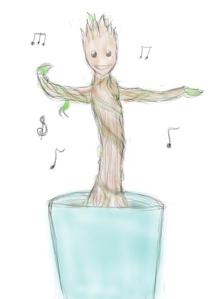 Dancing Groot by AnimeCouples1992
