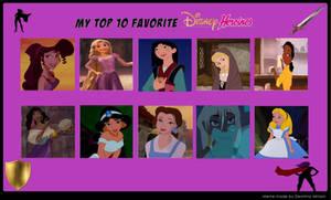 Top 10 Disney Heroine
