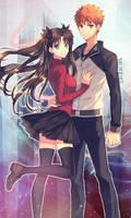 Rin and Emiya lockscreen