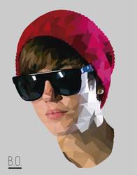 Justin Bieber Low Poly Illustration