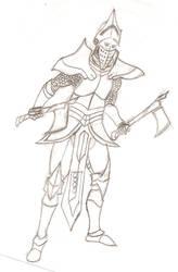 Dual Wielding Knight by AndrewCZ