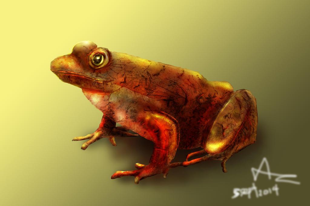 Frog render (Metallic texture) by AndrewCZ