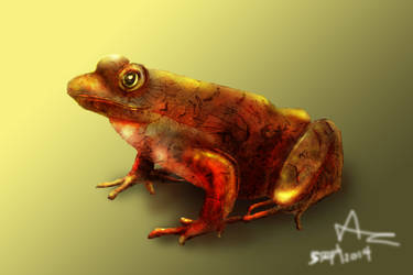 Frog render (Metallic texture) by AndrewCZ