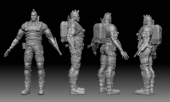 Game production Hi-poly Zbrush sculpt
