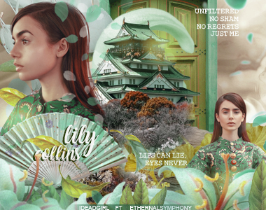 Lily Collins ft iDeadGirl by EthernalSymphony