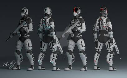 Sci-Fi drop troops by DarkDragoon619