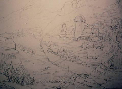 Skyrim - Mountain Village WIP