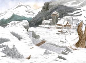 Skyrim - Mountain Village