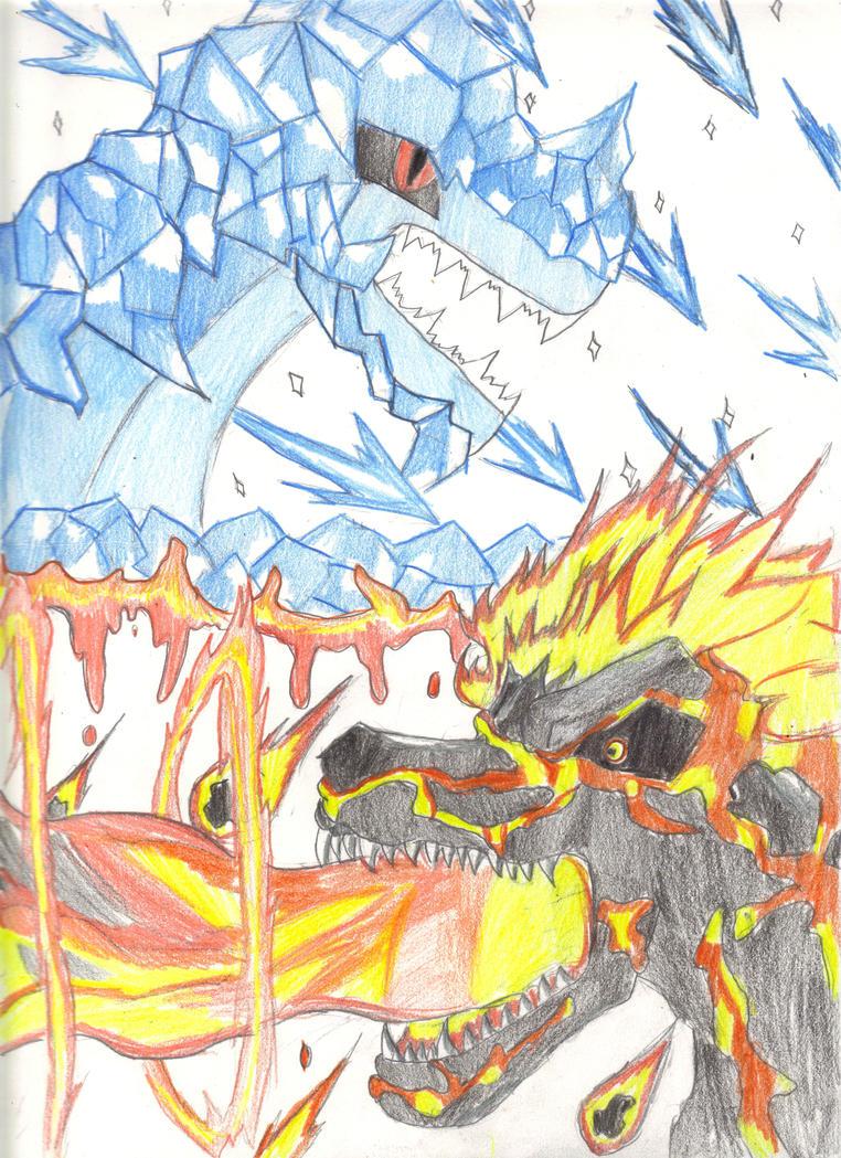Frigisaurus vs Ignosaurus #2 by MewMew55