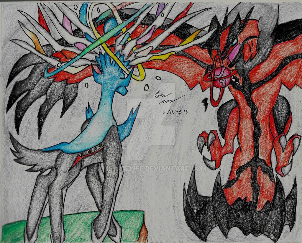 Xerneas vs Yveltal by MewMew55 on DeviantArt