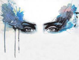 Watercolour eyes - 'when eyes had Tales'