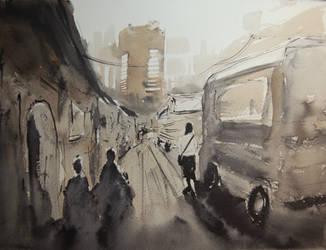 Bolivia street scene