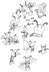 Buzzy The Bee Doodles by Luigirulz