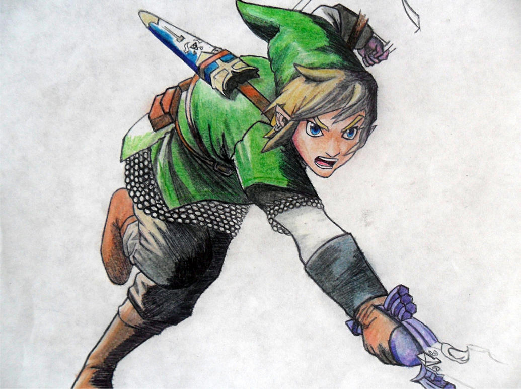 how to draw skyward sword link