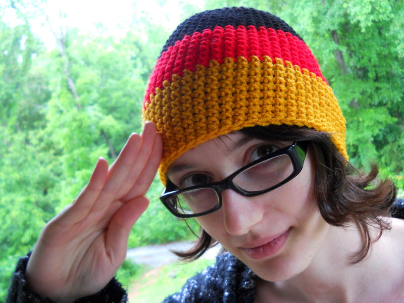 Hetalia Germany Crochet hat by YarnAlchemy