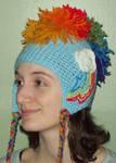 Rainbow Dash crochet Hat by YarnAlchemy