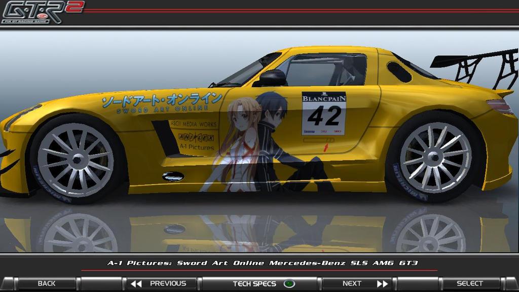 Sword Art Online Mercedes SLS AMG GT3 Itasha_02 by FAT8893