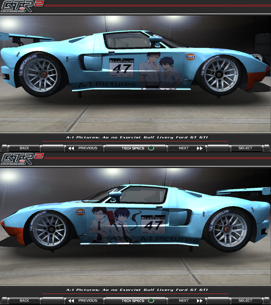 Ao No Exorcist Gulf Livery Ford GT GT1 Itasha By FAT8893