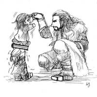 little fili and kili by JayjoOakenshield