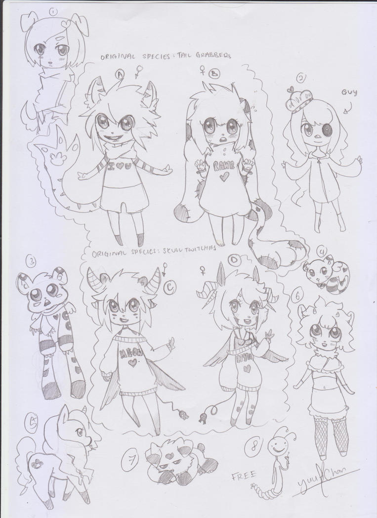 Closed original species N mixed adopts(OPEN1 LEFT) by Yu-Tanni