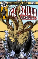 Mock 70s Godzilla comic cover