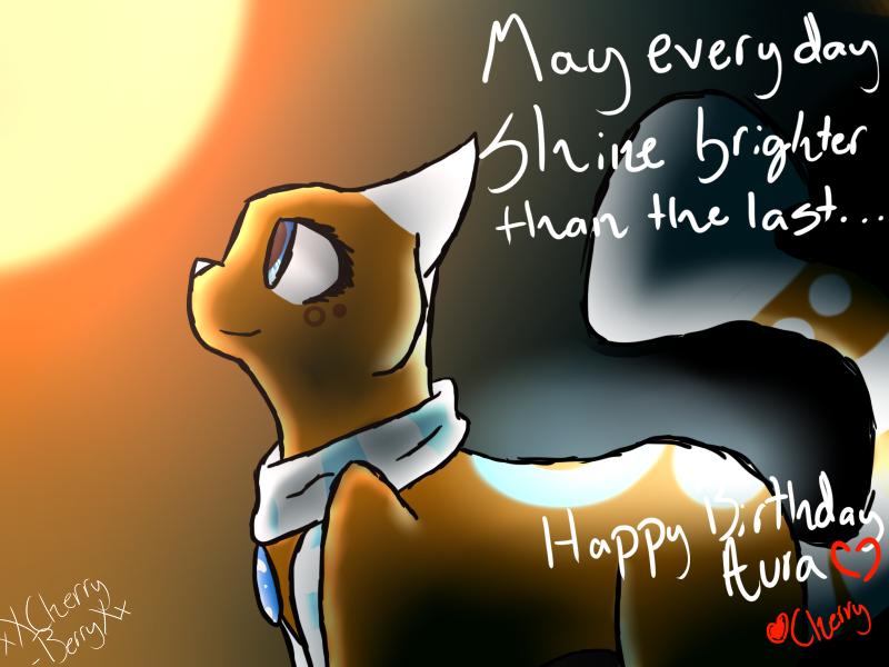 Happy Birthday Aura~ by xXCherry-BerryXx