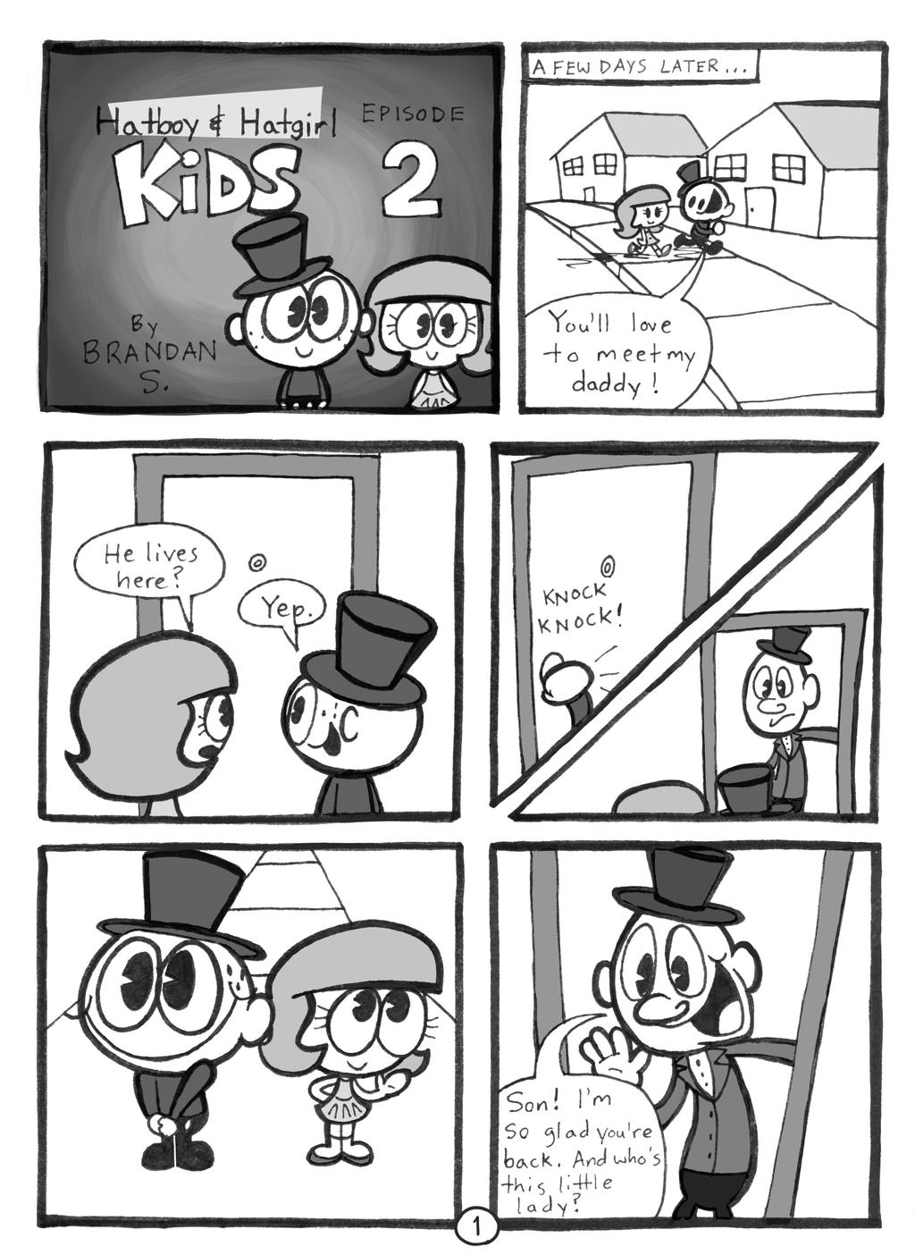 Hatboy and Hatgirl Kids Ep 2 Page 1/5 by rachetcartoons