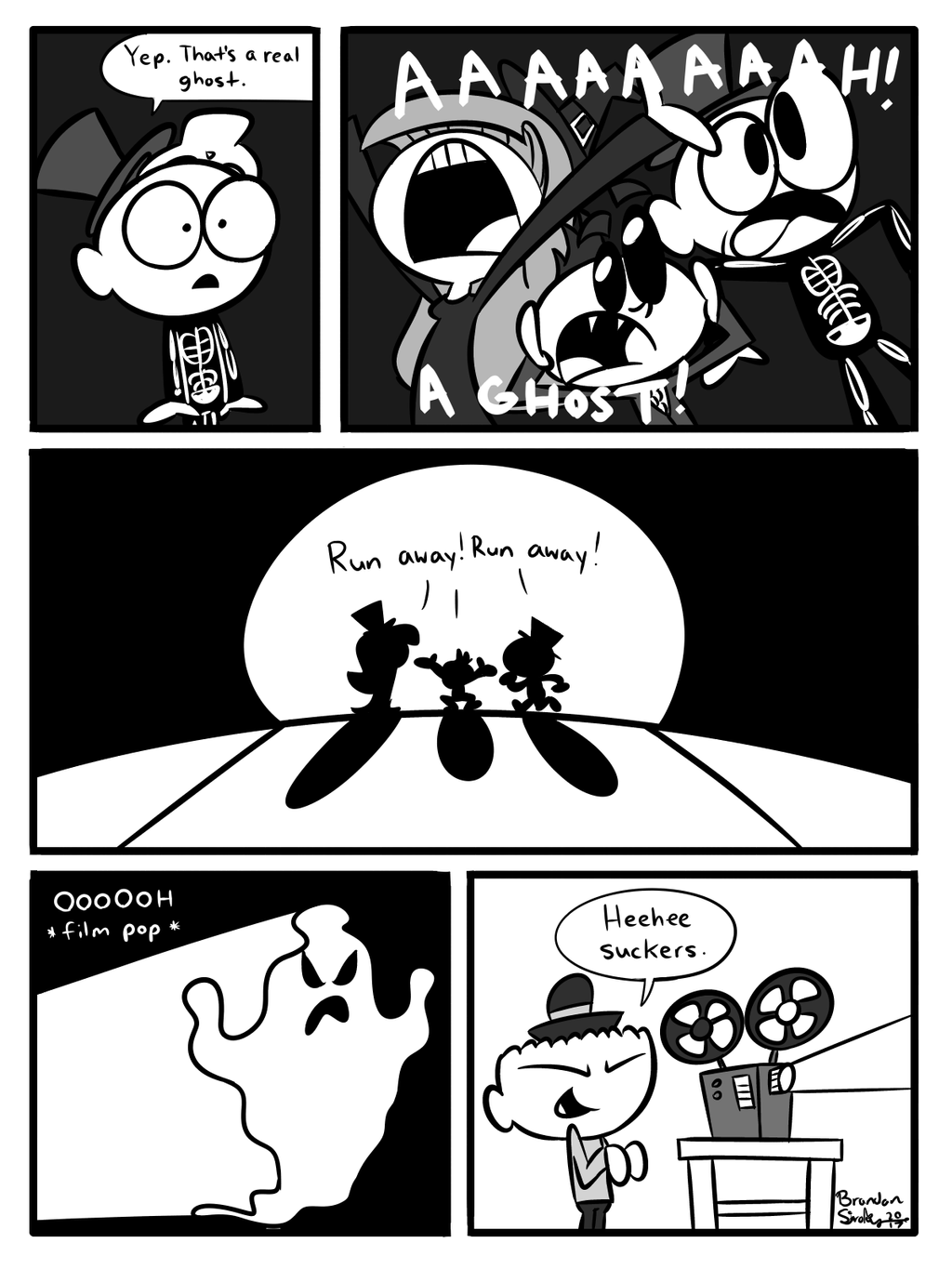 A Hatboy and Hatgirl Halloween Spook [PAGE 3-3] by rachetcartoons