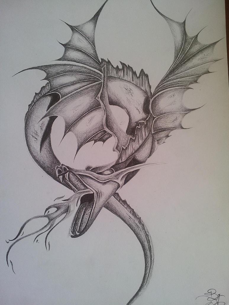 Fantasy Dragon Pencil DRAWING - Realistic by CassandraWilsonRealistic Dragon Sketches In Pencil