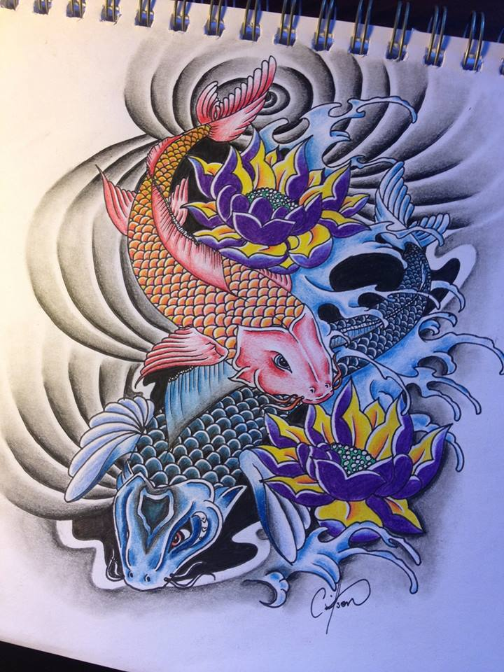 Koi fish tattoo design tiny cass by cassandrawilson on for Tiny koi fish